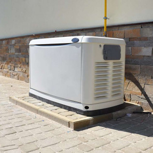 backup generator installation work